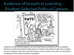 evidence of growth in learning student selected political cartoon