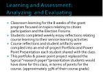 learning and assessment analyzing and evaluating