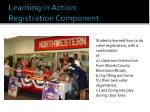 learning in action registration component