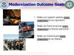 modernization outcome goals