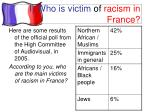 i who is victim of racism in france1