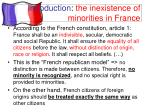 introduction the inexistence of minorities in france