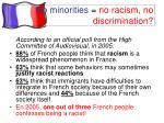no minorities no racism no discrimination