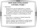 how does intelligent control work