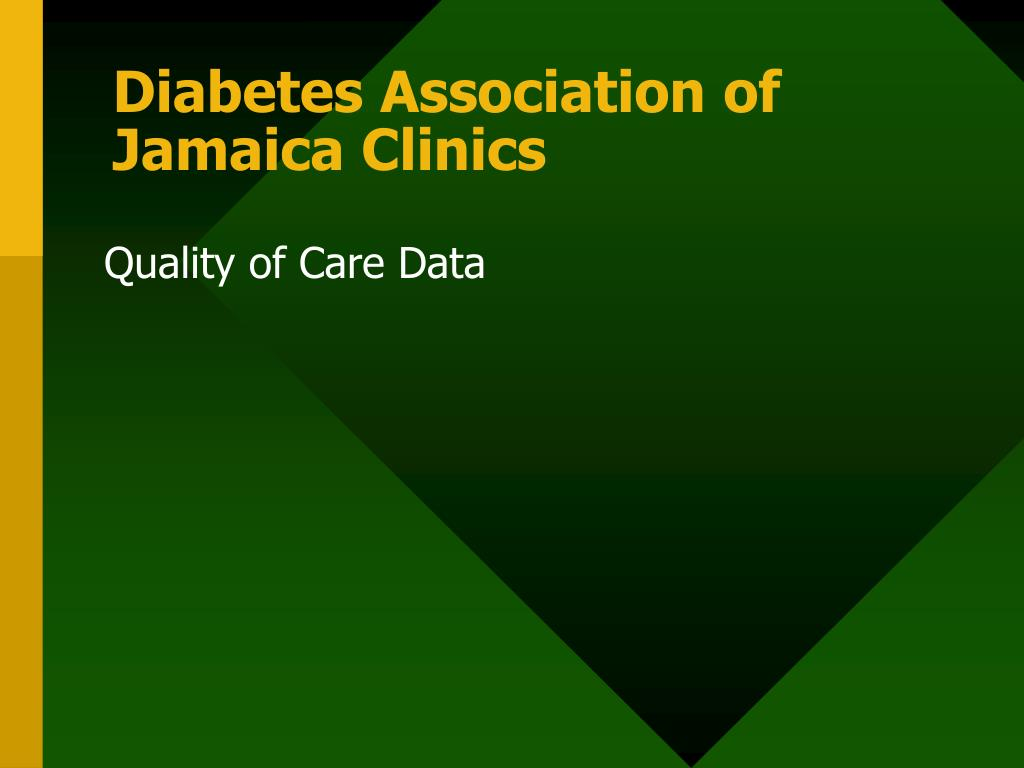 Diabetes Association of Jamaica Clinics