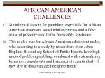 african american challenges