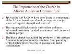the importance of the church in african american communities
