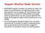 doppler weather radar sensors
