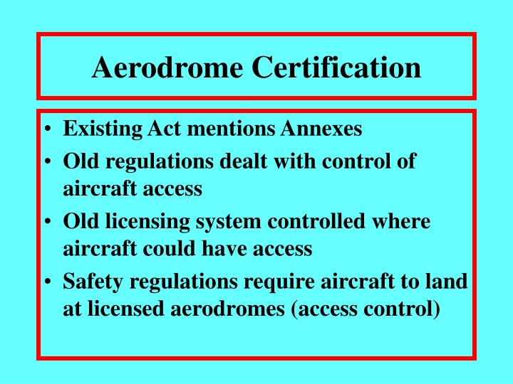 Aerodrome certification3