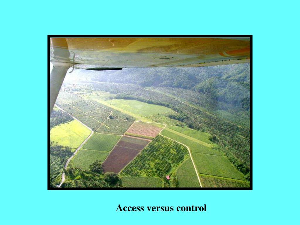 Access versus control