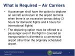 what is required air carriers