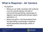 what is required air carriers1