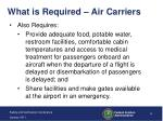 what is required air carriers2