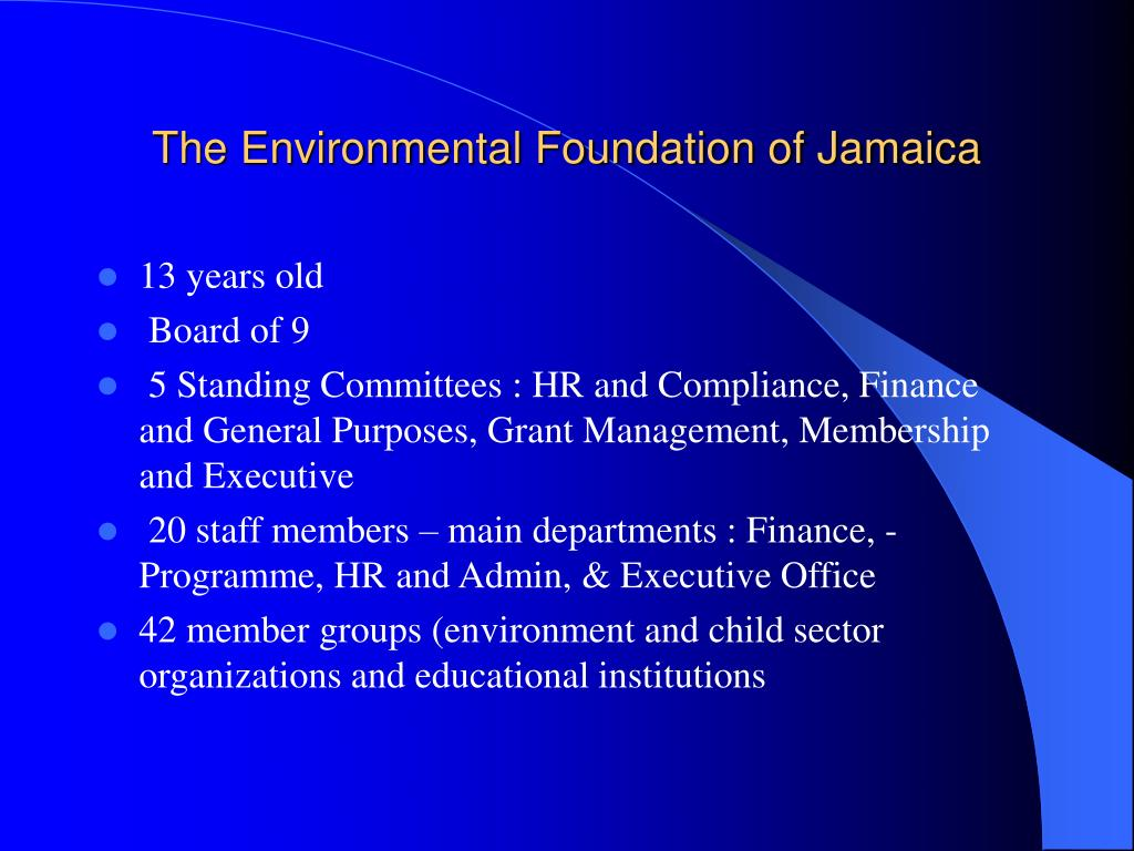 the environmental foundation of jamaica