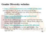 gender diversity websites