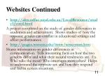 websites continued