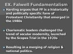 ex falwell fundamentalism