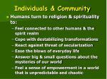 individuals community