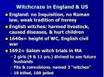 witchcraze in england us