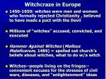 witchcraze in europe
