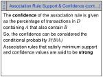 association rule support confidence cont