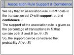 association rule support confidence