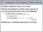 bottleneck of frequent pattern mining