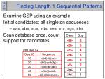 finding length 1 sequential patterns