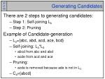 generating candidates