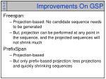 improvements on gsp