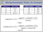 mining association rules an example