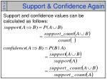 support confidence again