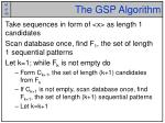the gsp algorithm