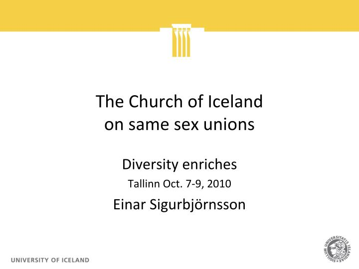 the church of iceland on same sex unions n.