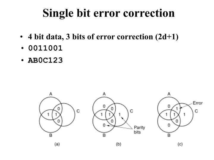 Single bit error correction