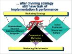 after divining strategy still have task of implementation performance