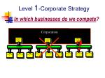 level 1 corporate strategy