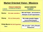 market oriented vision missions