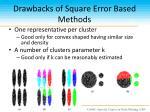 drawbacks of square error based methods