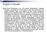 english in canada