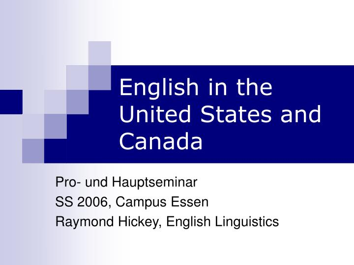 english in the united states and canada n.