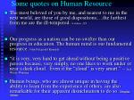 some quotes on human resource