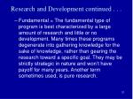 research and development continued3