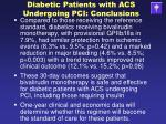 diabetic patients with acs undergoing pci conclusions1