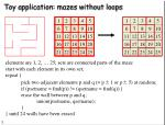 toy application mazes without loops