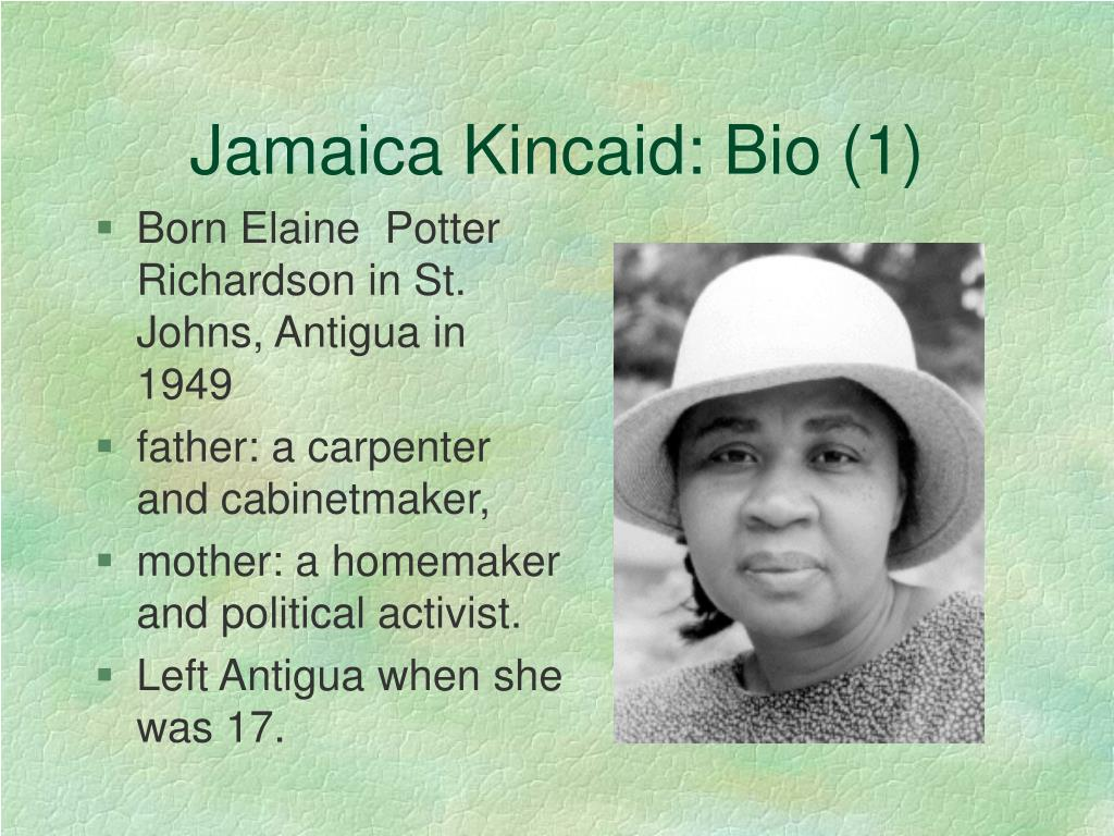 jamaica kincaid biography of a dress