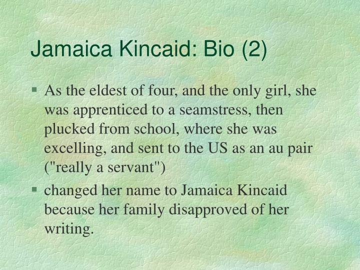 Jamaica kincaid bio 2