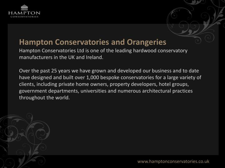 Hampton Conservatories and Orangeries
