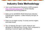 industry data methodology