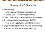 survey of mc students